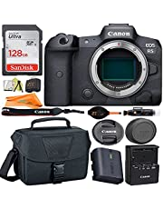 Canon EOS R5 Mirrorless Digital Camera (Body Only) 45MP Full Frame CMOS Sensor + SanDisk 128GB Card + Case + ZeeTech Accessory Bundle (13pc Bundle)