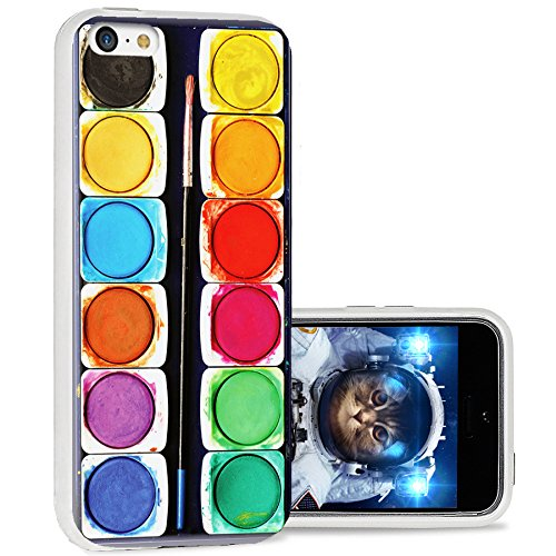 iPhone 5c case cool, iPhone 5c case cute, ChiChiC full Protective Stylish Case slim durable Soft TPU Cases Cover for iPhone 5c,colorful watercolor painting - The Popular 1970s Colors Of