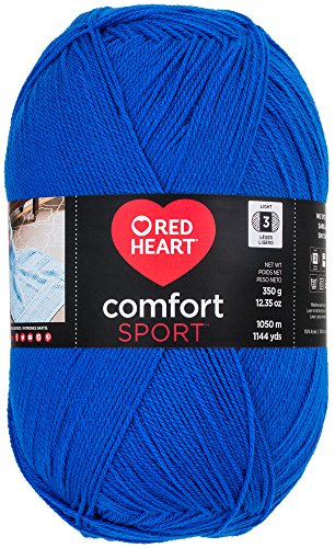 (Red Heart Comfort Sport Yarn, Marine Blue)