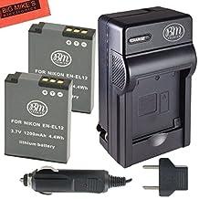 BM Premium 2-Pack of EN-EL12 Batteries & Battery Charger Kit for Nikon Coolpix A900, AW100, AW110, AW120, AW130, S31, S800C, S6100, S6200, S6300, S8100, S8200, S9050, S9100, S9200, S9300, S9400, S9500, S9700, S9900, P300, P310, P330, P340, S1100PJ, S1200PJ Digital Camera