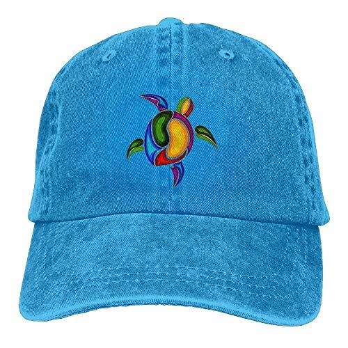 Tortoise Sea Turtle Baseball Caps Cute Available Snapback Hat for Adults Blue -