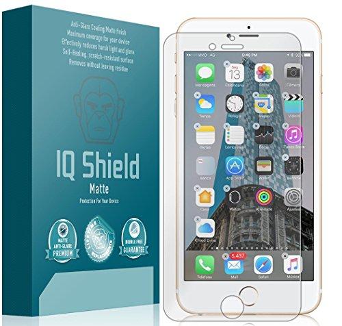 iPhone 7 Plus Screen Protector (Maximum Coverage), IQ Shield Matte Full Coverage Anti-Glare Screen Protector for iPhone 7 Plus Bubble-Free Film - with