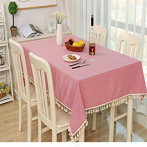 (wrgfhb Polka dot Lattice Decorative Tablecloth Table Cover Party Wedding Home Kitchen Rectangular Tablecloth Pink 110x140cm)
