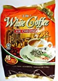 AIK CHEONG 3 IN 1 WHITE COFFEE HAZELNUT 15 SACHETS40G+ 1 FREE NINE CHEF SPOON