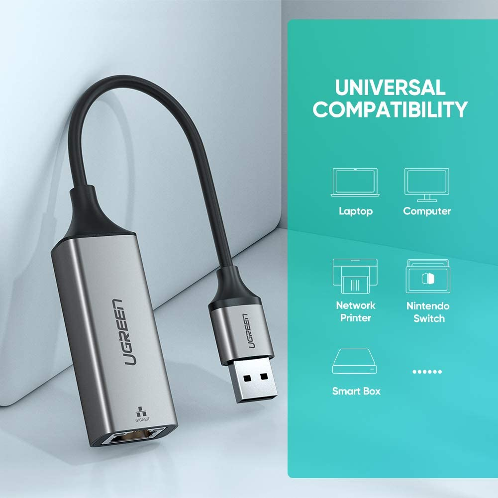 UGREEN Adaptador de Red USB 3.0 a Ethernet Gigabit 1000Mbps para ...