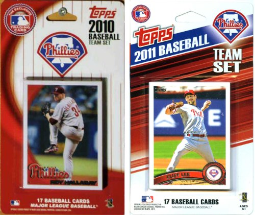 C&I Collectables MLB Philadelphia Phillies 2 Different Licensed Trading Card Team Sets