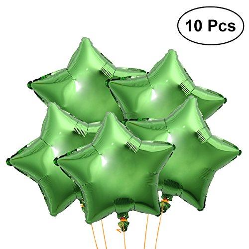 TOYMYTOY 10pcs Star Shape Foil Mylar Balloons Party Foil Balloons 18