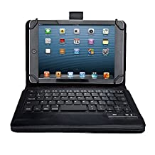 IVSO KeyBook Bluetooth Keyboard Case for HP Stream 7 Tablet - with Removable Keyboard (Black)