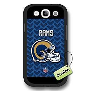 Personalize NFL St Louis Rams Logo Frosted BlackDiy For SamSung Note 3 Case Cover Black