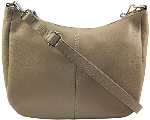 CHLOLY Mamamia Sac bandouliere Italie Taupe Cuir Clair vS7vw