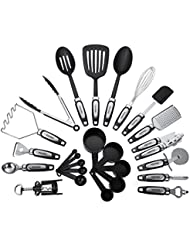25-Piece Kitchen Tool & Utensil Set, Cooking Gadgets, Stainless Steel & Nylon