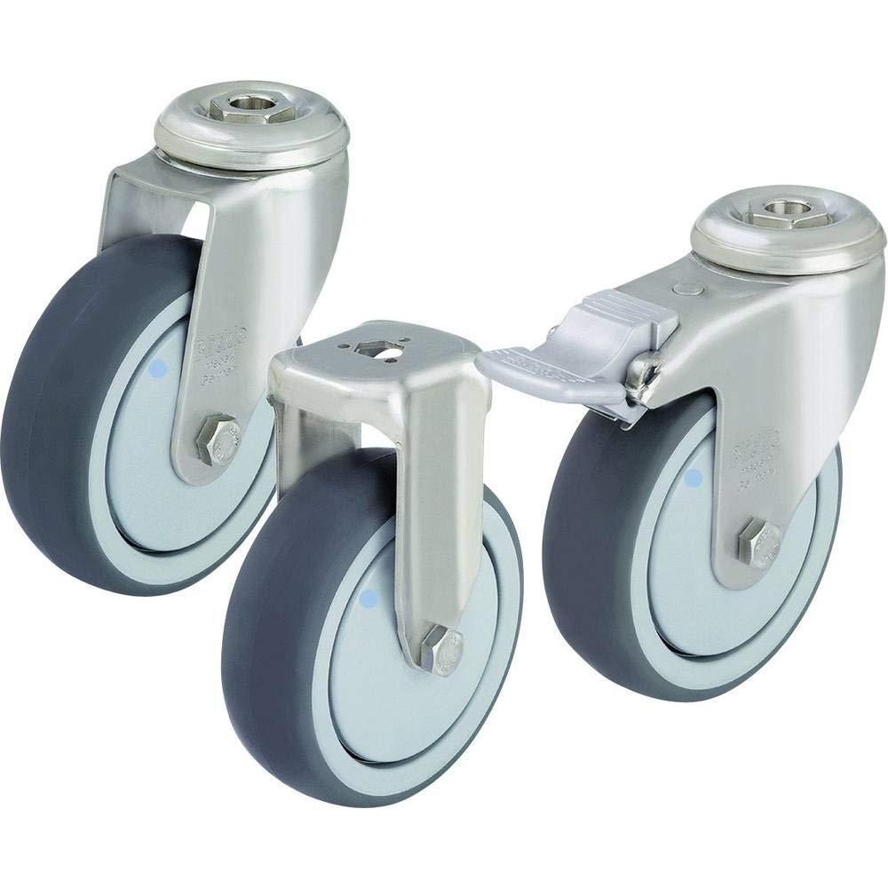 Mod/èle Roulette Stop Fix Blickle LKRXA-TPA 126KD-11-FI-FK Roulette avec perforation dun diam/ètre de 125 mm
