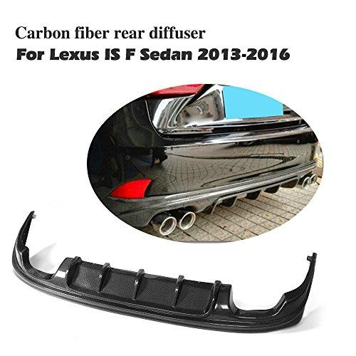 jcsportline Rear Bumper Lip Diffuser for Lexus IS200t IS300 IS350 IS250 & IS F Sport 2013-2017 (Carbon Fiber)
