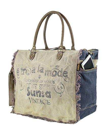 ... Sunsa Borse da Donna Vintage Borse a tracolla Borsette in Canvas   Telo  olona con pelle ... 97a39093d3d