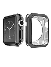 Navor Unique Slim Protective Case Cover for Apple Watch Series 1-2-3 (42mm-Black)