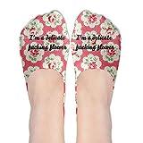 I'm A Delicate Fucking Flower Women's Elastic Cotton Ankle Socks