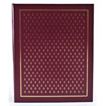 Pinnacle Frames and Accents Burgundy Diamond 400-Pocket Ring Bound Photo Album