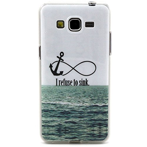 For Samsung Galaxy Grand Neo I9060 Case, IVY I Refuse To Sink Graphic,Snap-on TPU&IMD Soft Case Cover Skin For Samsung Galaxy Grand Neo I9060 / Samsung Galaxy Grand Duos i9082 i9080 GT-I9082
