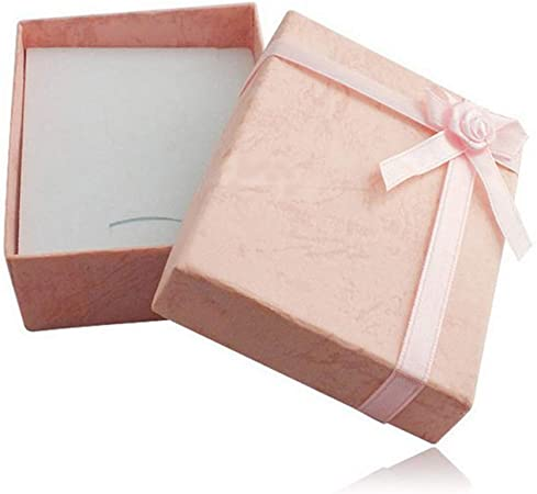 CFPacrobaticS Cuboide Bowknot Pulsera Collar Brazalete Soporte De Joyería Caja Caja Regalo Sorpresa para Boda/Compromiso/Propuesta Color Aleatorio: Amazon.es: Hogar