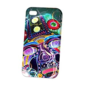 TYH - Case Fun Apple iPhone 5/5s Case - Vogue Version - D Full Wrap - Psychedelic Mask ending phone case