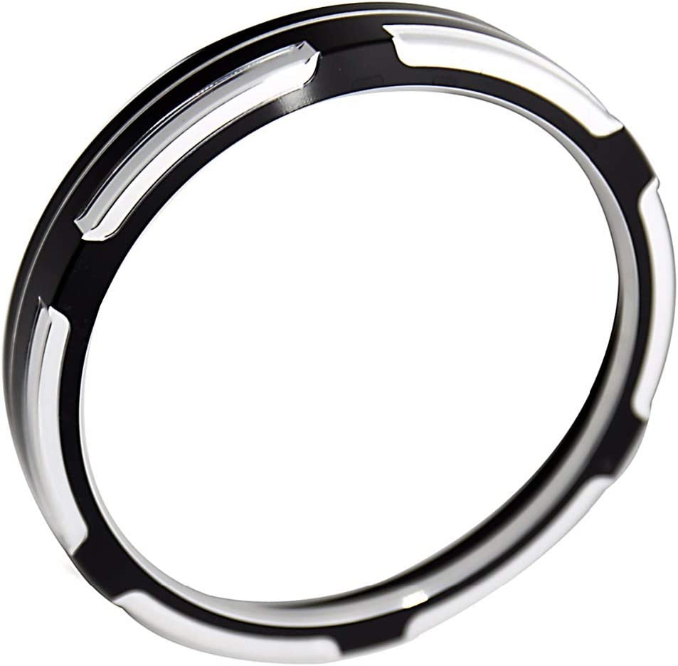 Black Asterism Speedometer Trim Bezel Burst Billet Cover For Harley Sportster 883 1200 Dyna Street Bob Low Rider