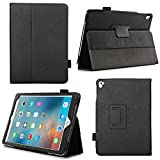 Bear Motion for iPad Pro 9.7 Case - Genuine Cowhide Leather Folio Case for iPad Pro 9.7 Inch with Auto Sleep Wake Feature