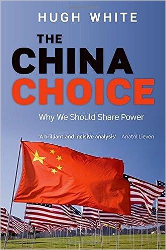 Amazon com: The China Choice: Why We Should Share Power