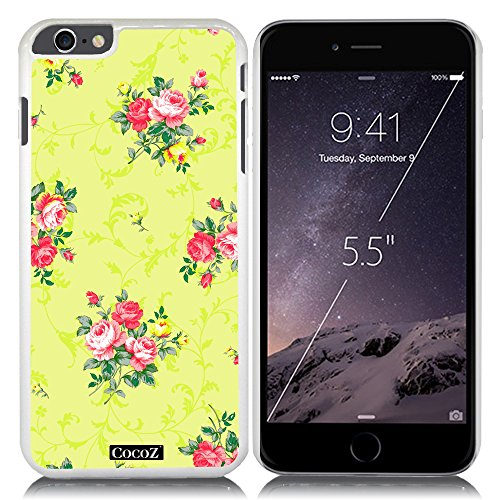 Price comparison product image New Apple iPhone 6 Plus 5.5-inch CocoZCase Beautiful flowers designs PC (White PC& Beautiful Flowers 12)