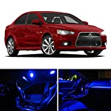 LEDpartsNOW Mitsubishi Lancer 2007-2015 Blue Premium LED Interior Lights Package Kit (6 Pieces)