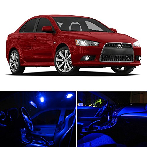 Ledpartsnow 2007 2015 Mitsubishi Lancer Led Interior Lights Accessories Replacement Package Kit