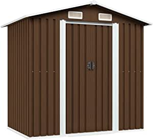 vidaXL Garden Storage Shed Garage Outdoor Cabin Storage House Multi Colors