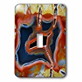 Danita Delimont - Rocks - Banded Agate, Quartzsite, rust color - Light Switch Covers - single toggle switch (lsp_229614_1)