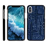 x plane 10 mobile - TurtleArmor   Apple iPhone X Case   Apple iPhone 10 Case [Slim Duo] Ultra Slim Hard Matte Protector Clip On Cover on Black War and Military Design - Plane Blueprint