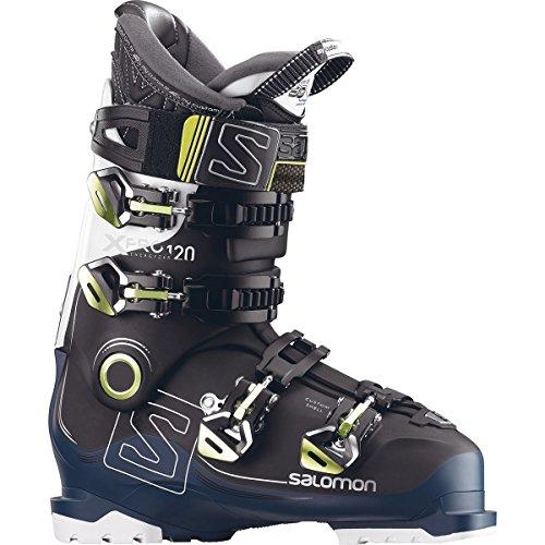 Salomon X Pro 120 Ski Boot Black/Petrol Blue/White, 30.5 (Freeride Skis Salomon)