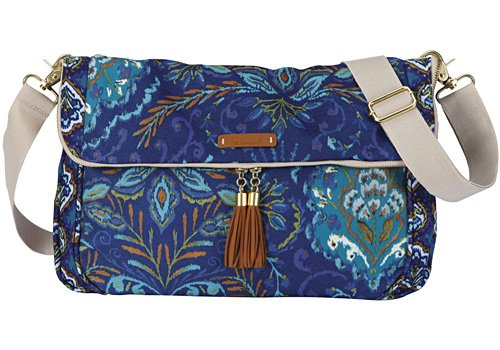 C.R. Gibson Dena Accessories Fold Over Expandable Tote, Indigo, 15-1/2-Inch, Wide ()