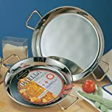 Stainless Steel Paella Pan - 28 inch/ 70 cm
