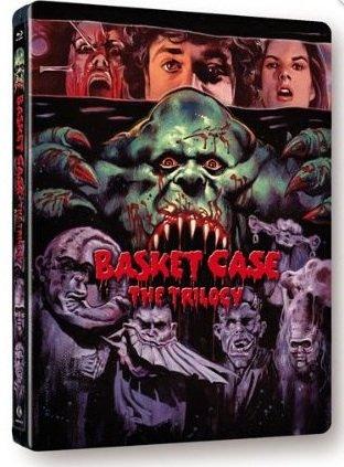 Basket Case Trilogy 'Limited Edition Steelbook | Basket Case / Basket Case 2 / Basket Case 3: The Progeny' (Blu-ray) 'Region Free'