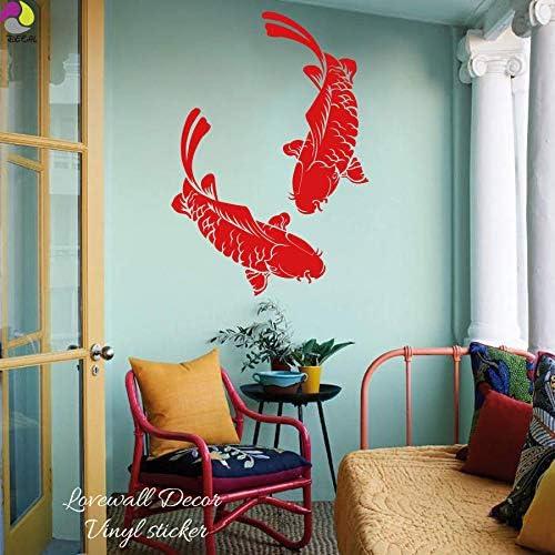 56 cm zzlfn3lv Koi Poissons Autocollant Mural Salon Chambre Carpe Poissons G/éant Oc/éan Mer Animal Sticker Enfants Chambre Vinyle Home Decor Mur Art Mural90