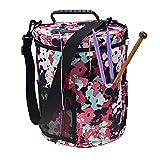 Utility Knitting Bag Yarn Storage, Durable Yarn Organizer Crochet Bag, Enjoy Outdoor Knitting Crocheting Yarn Storage Bag Protect Yarn and Prevent Tanglin (6#)