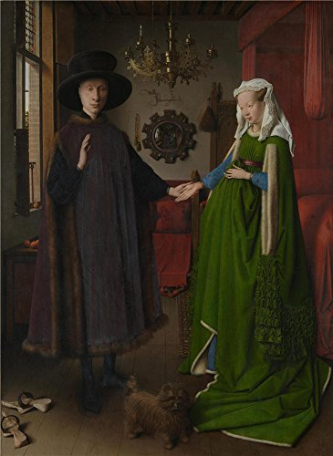 Oil Painting 'The Arnolfini Portrait 1434', 8 x 11 inch / 20 x 28 cm , on High Definition HD canvas prints is for Gifts And Hallway, Kids Room And - Fill Eyeglass Prescription