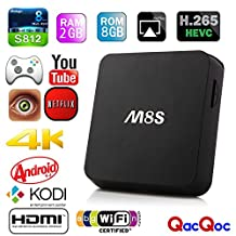 M8S Android TV Box 2G/8G Dual band 2.4G/5G wifi Android 4.4 Amlogic S812 Chip 4K XBMC Full HD Smart tv box