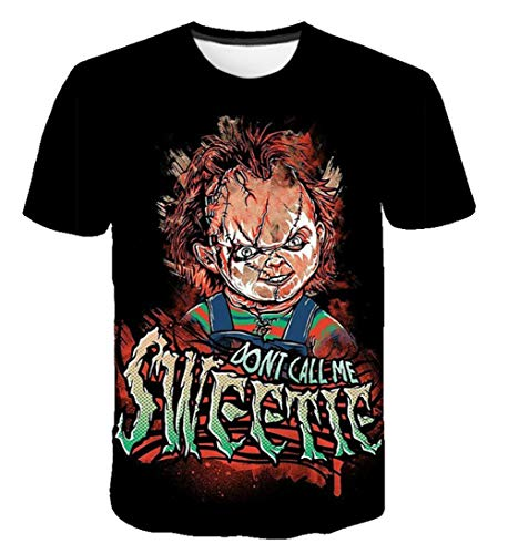 MaeFte Chucky Doll T-Shirts Halloween Scarface Movie Short Sleeved Shirts (M, Style 5)]()