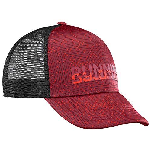 - Salomon Mens Summer Logo Running Cap, Biking Red/Night Sky