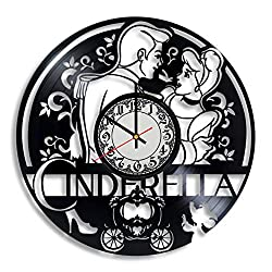 Lepri4ok Cinderella Handmade Wall Clock, Gifts for Mom, Cinderella Castle Art, Cinderella Carriage, Cinderella Carriage Decor, Gifts for Women Glass Slipper Decor