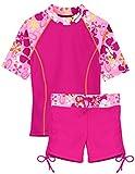Tuga Girls Surfer Girl 2 PC Swim Set (UPF 50+), Misty Pink, 4/5 yrs