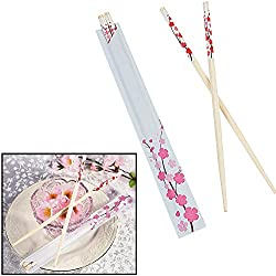 Cherry Blossom Wooden Chopsticks (24 Pieces) 9""