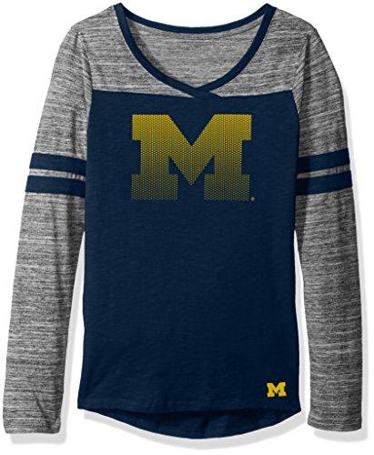 NCAA by Outerstuff NCAA Junior Girls Secret Fan Long sleeve Football Tee