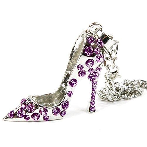 Silver Bling High Heel Shoe Mirror Car Charm Hanger Ornament
