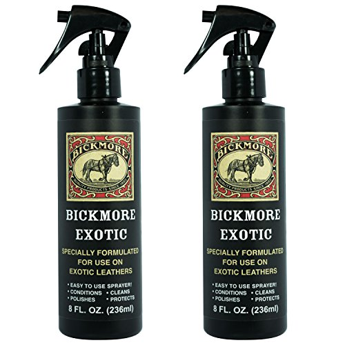 Bickmore Exotic 8oz (2-Pack) - Specially Formulated Leather Spray Used to Clean Condition Polish and Protect Exotic Leathers & Reptile Skins (Bick 1 Leather Cleaner)