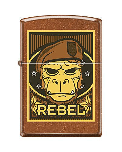 Zippo Custom Design Rebel Ape Reg Toffee Windproof Collectible Lighter. Made in USA Limited Edition & Rare (Ape Replica Skull)